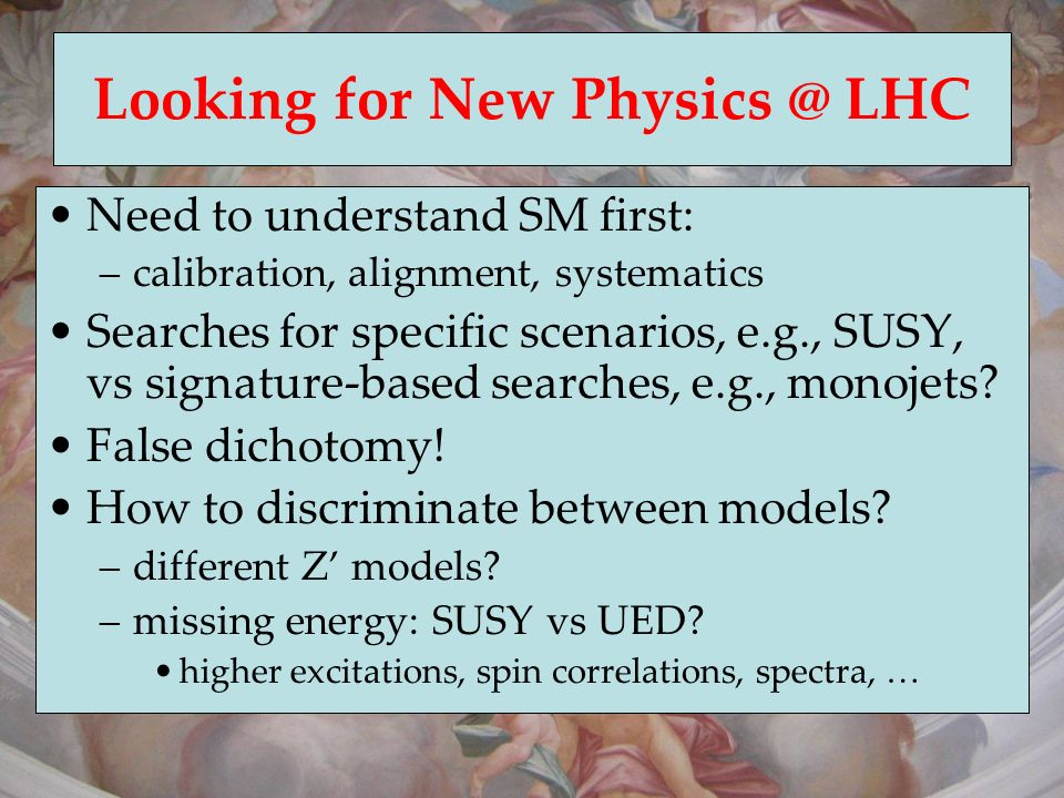 Looking for New Physics @ LHC