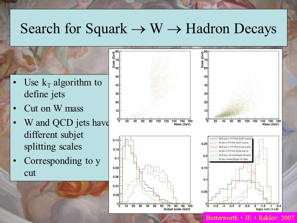 Search for Squark  W  Hadron Decays
