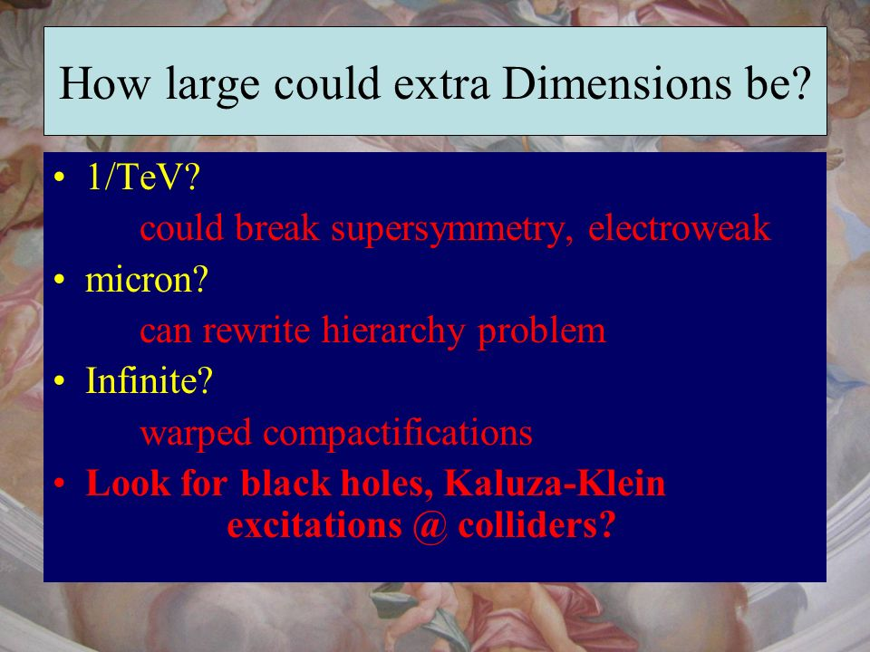 How large could extra Dimensions be