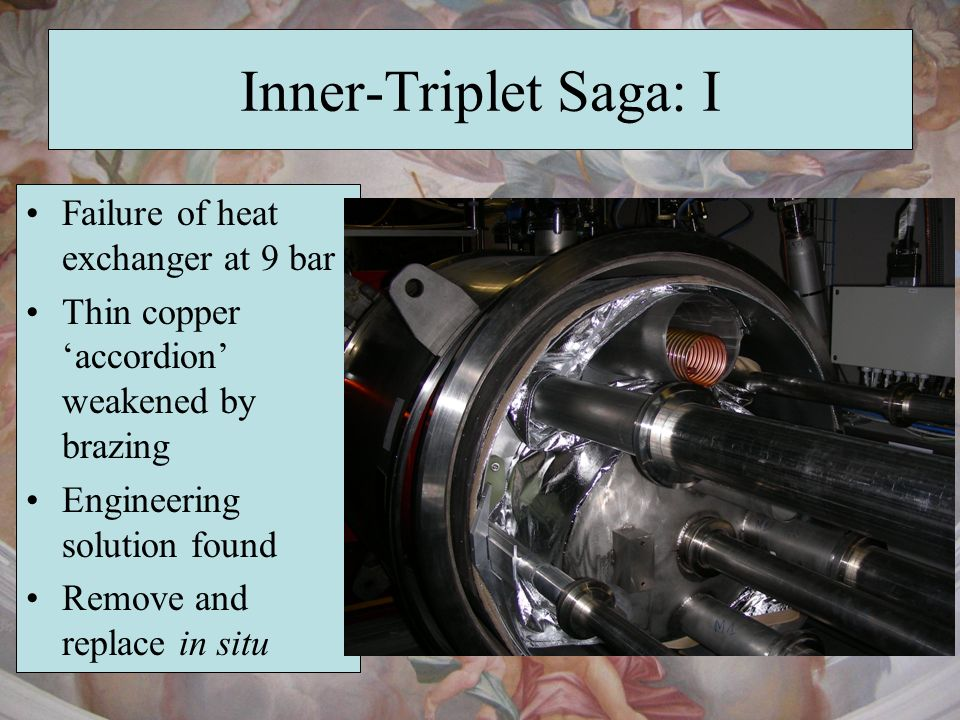 Inner-Triplet Saga: I Failure of heat exchanger at 9 bar