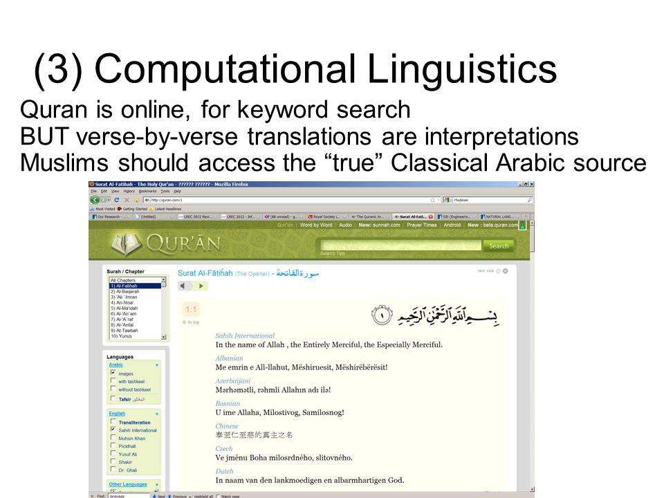 (3) Computational Linguistics
