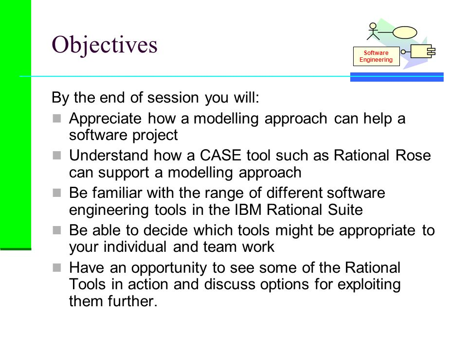 Objectives By the end of session you will: