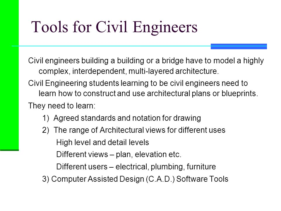 Tools for Civil Engineers