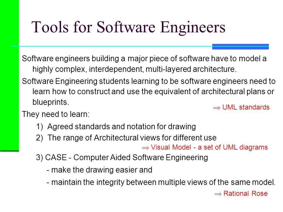 Tools for Software Engineers
