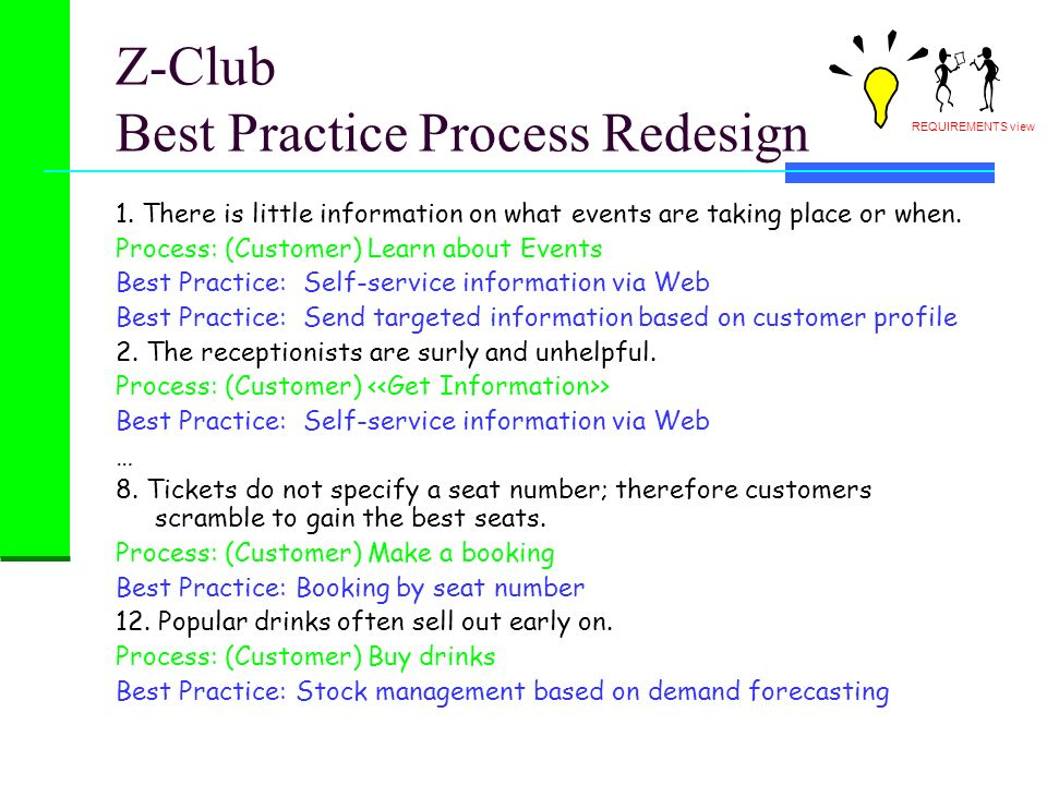 Z-Club Best Practice Process Redesign