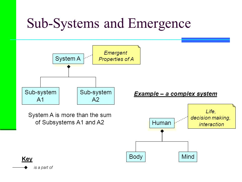 Sub-Systems and Emergence