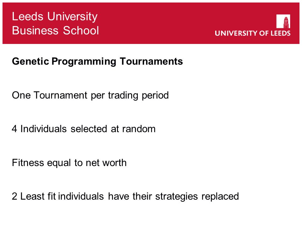 Genetic Programming Tournaments