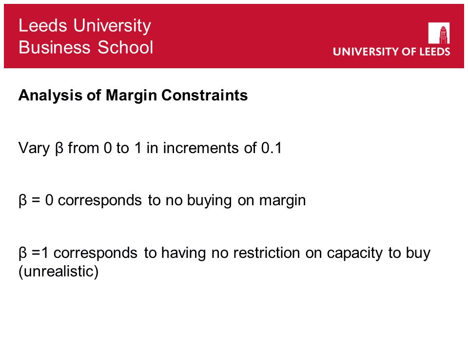 Analysis of Margin Constraints