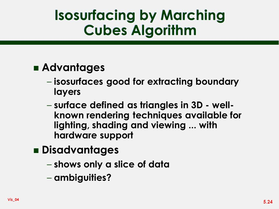 Isosurfacing by Marching Cubes Algorithm