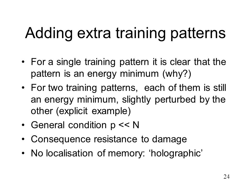 Adding extra training patterns