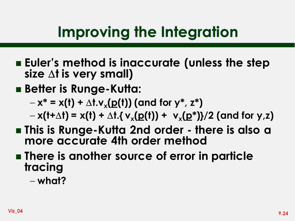 Improving the Integration