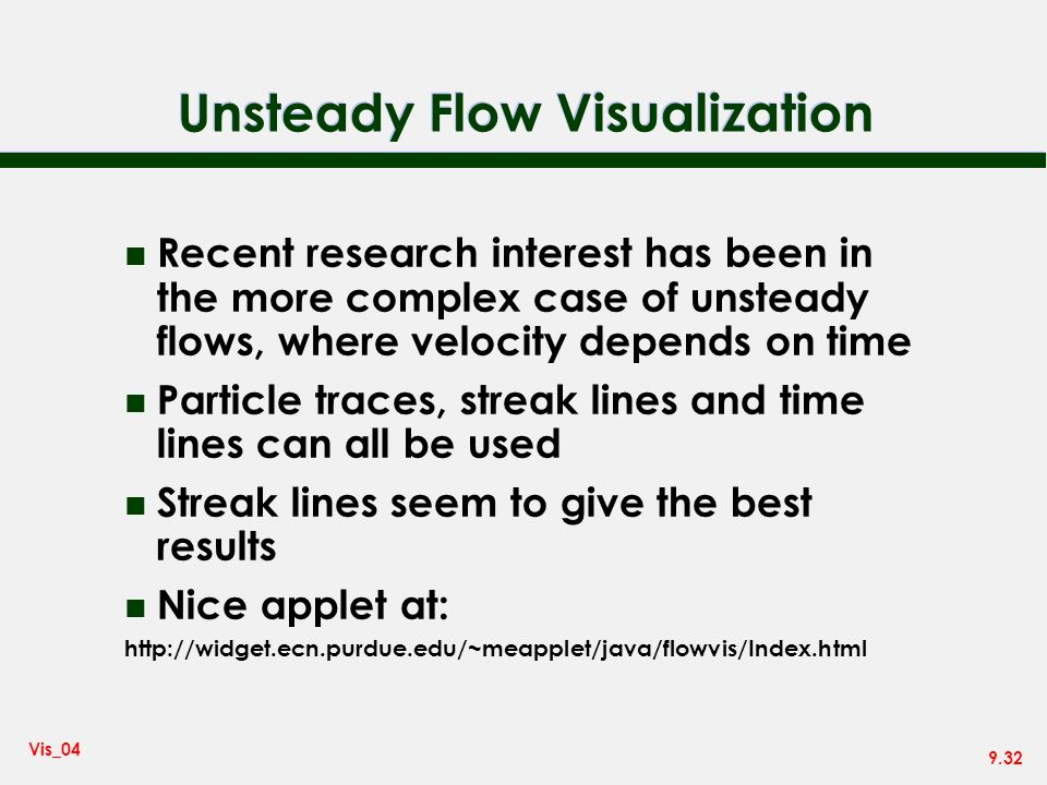Unsteady Flow Visualization