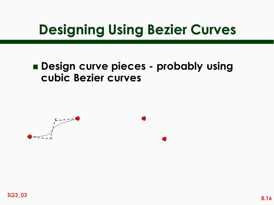 Designing Using Bezier Curves