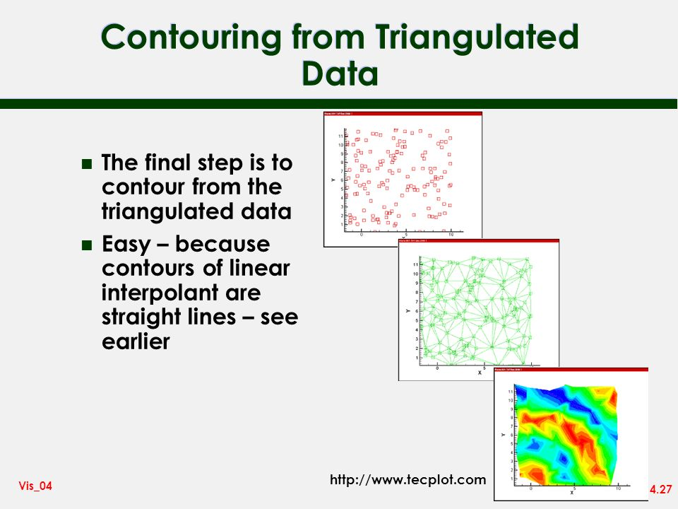 Contouring from Triangulated Data