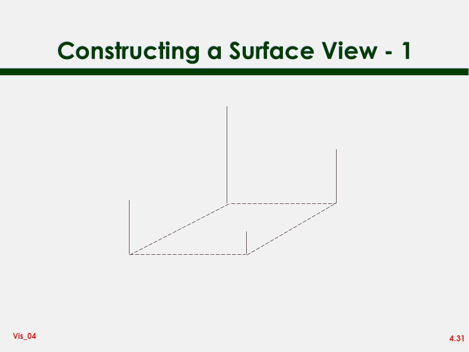 Constructing a Surface View - 1
