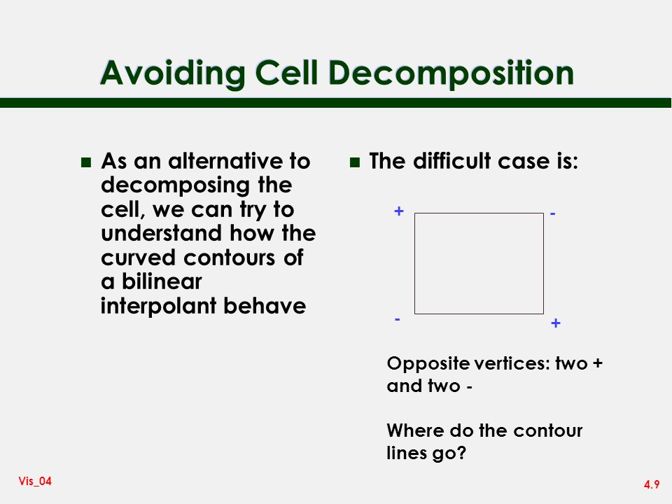 Avoiding Cell Decomposition