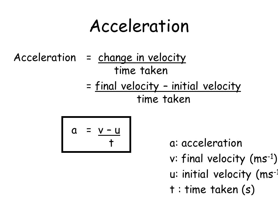 how to find initial acceleration with initial velocity and time