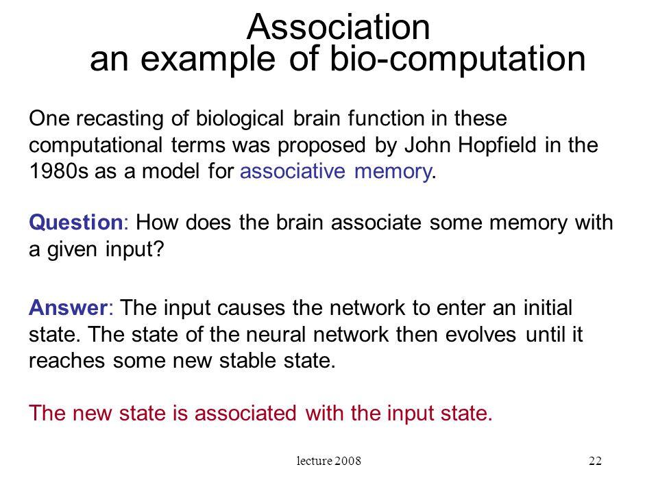 an example of bio-computation