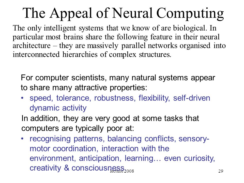 The Appeal of Neural Computing