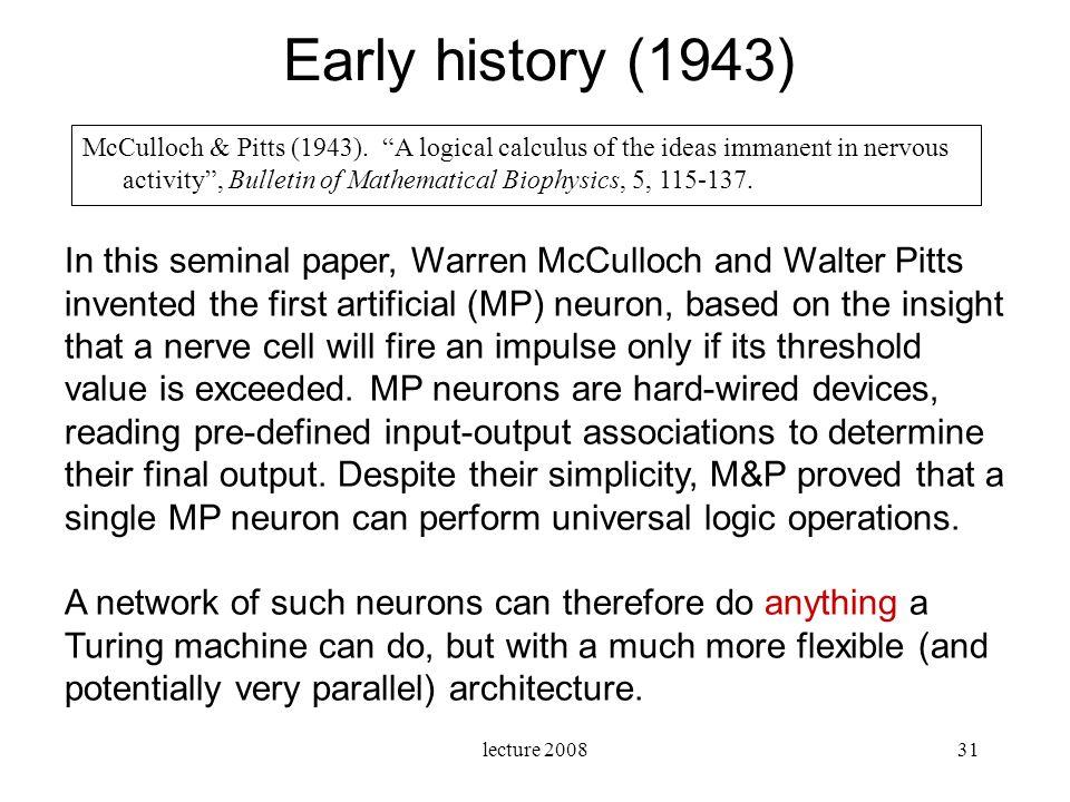 Early history (1943)