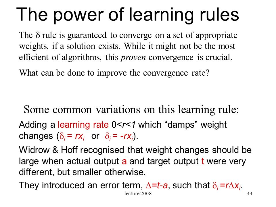 The power of learning rules