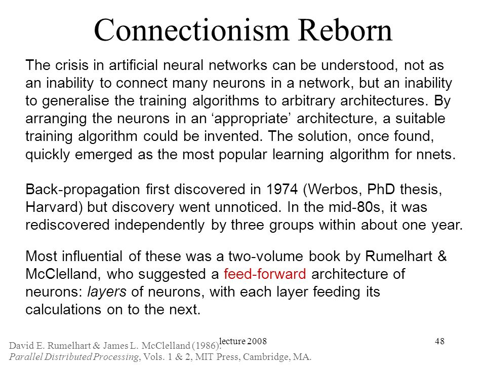 Connectionism Reborn