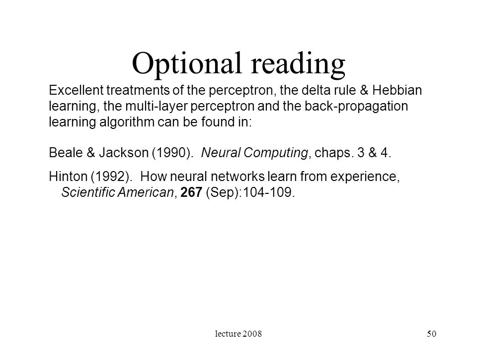 Optional reading