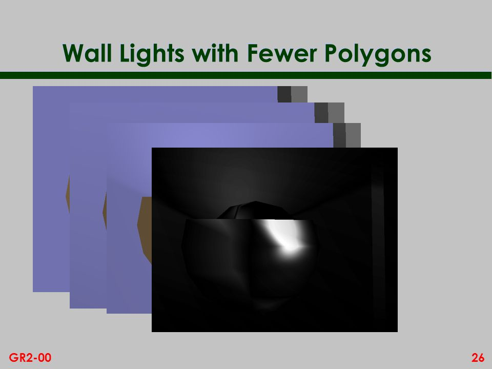 Wall Lights with Fewer Polygons