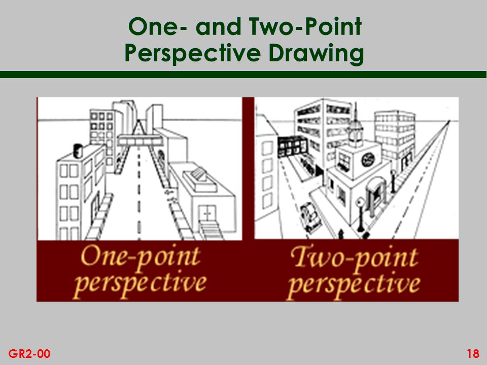 One- and Two-Point Perspective Drawing