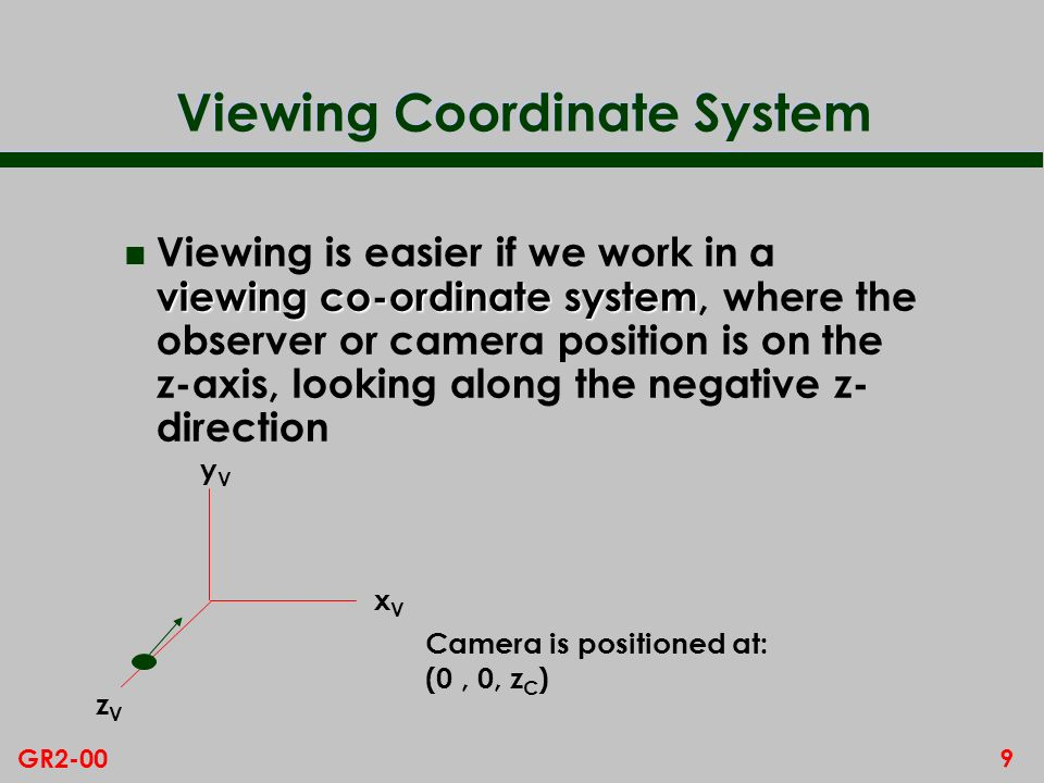 Viewing Coordinate System