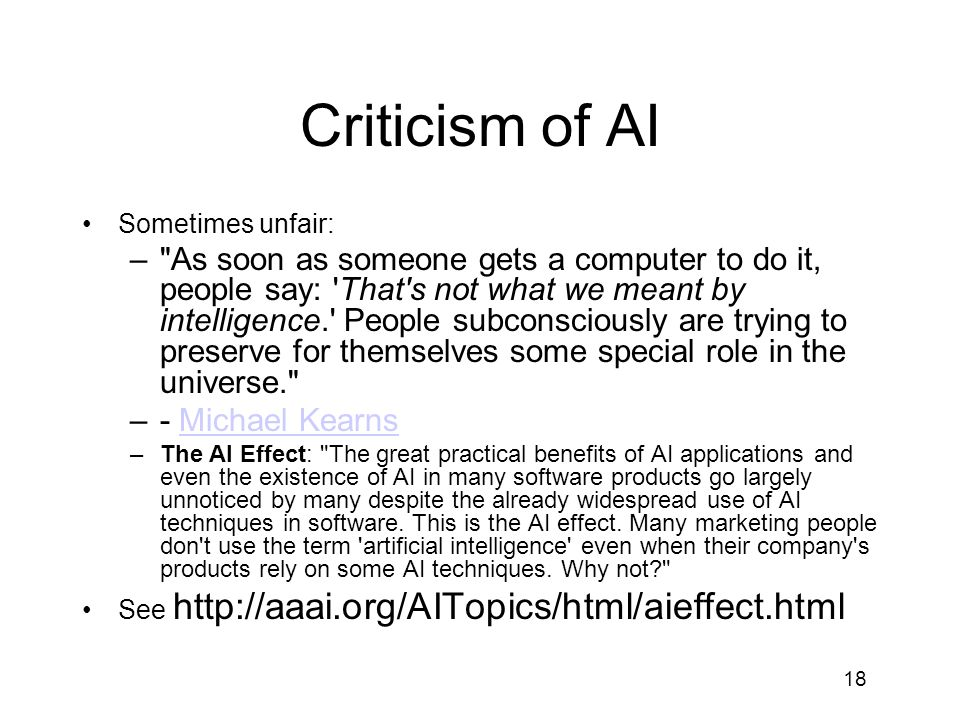 Criticism of AI Sometimes unfair: