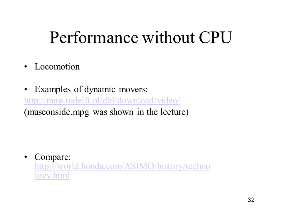 Performance without CPU