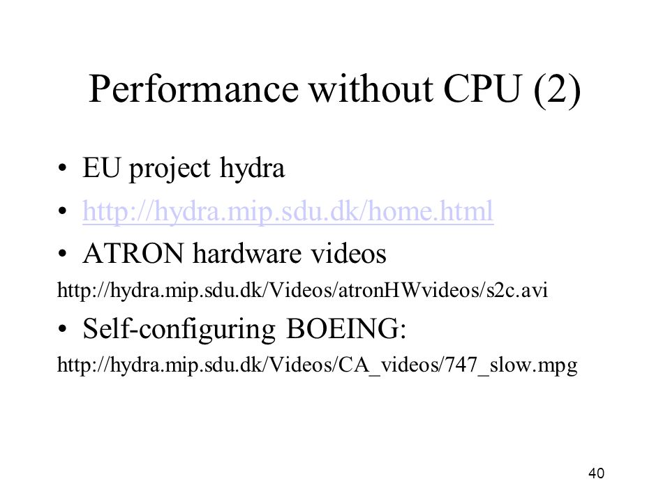 Performance without CPU (2)