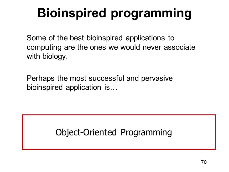 Bioinspired programming