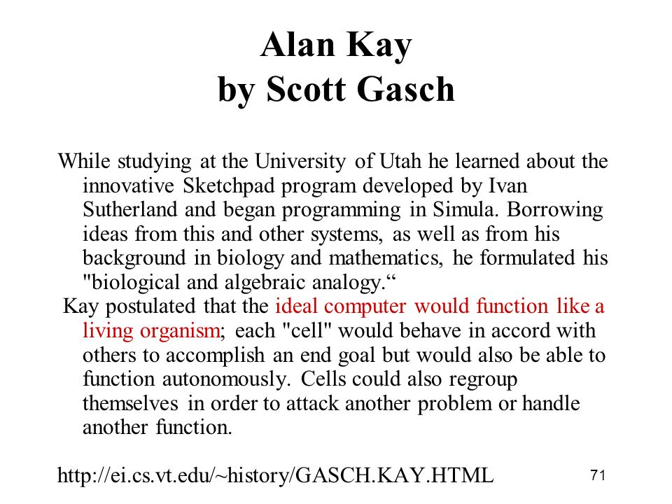 Alan Kay by Scott Gasch