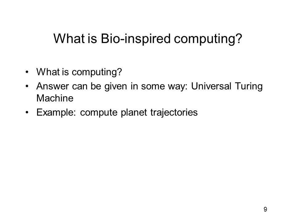 What is Bio-inspired computing