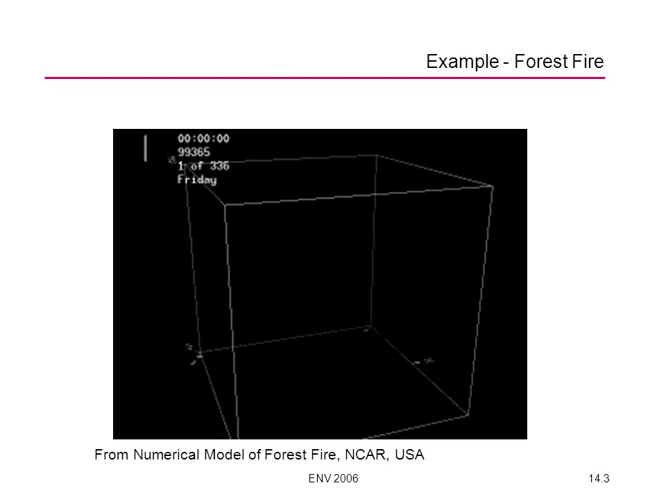 Example - Forest Fire From Numerical Model of Forest Fire, NCAR, USA