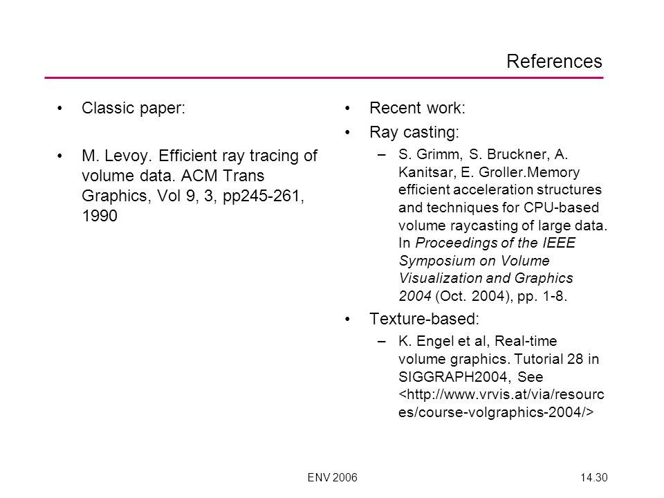 References Classic paper: