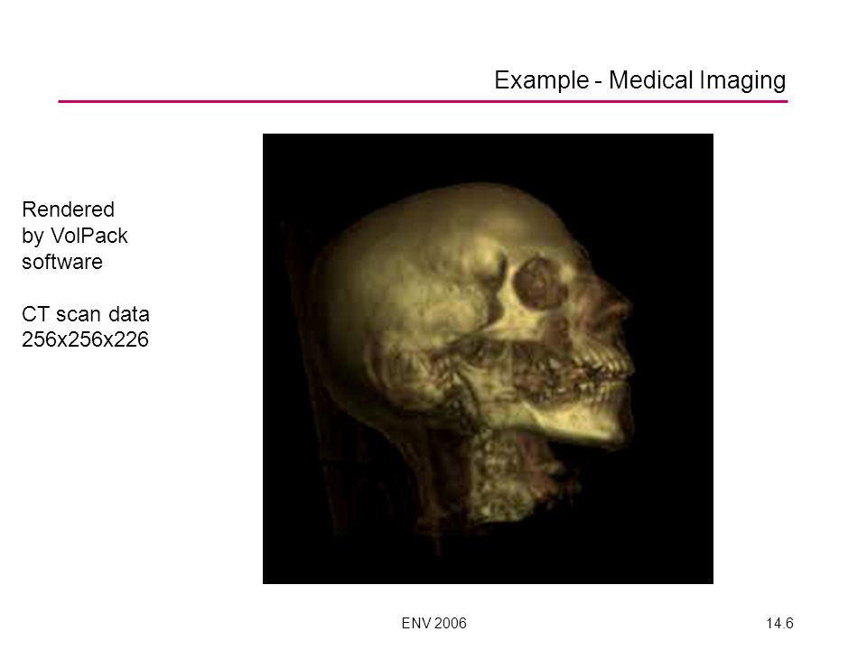 Example - Medical Imaging