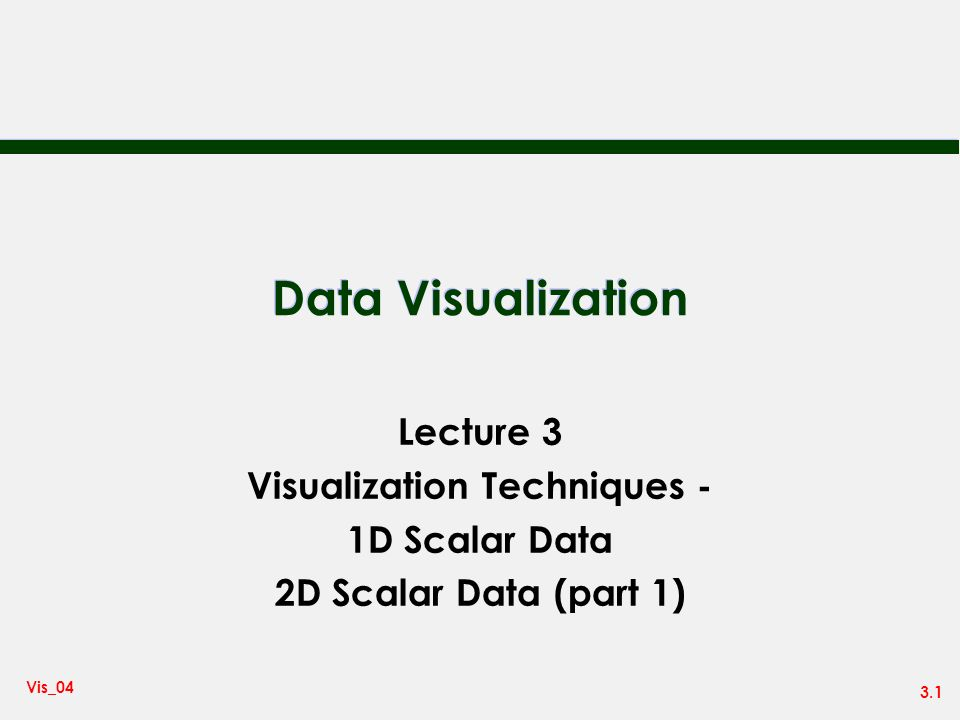 Visualization Techniques -