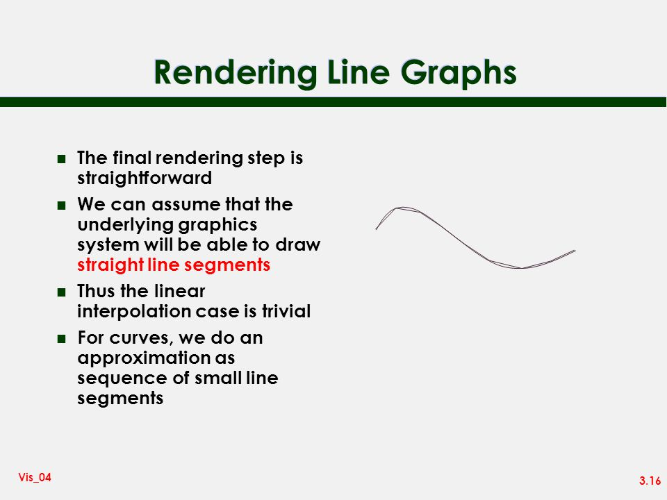 Rendering Line Graphs The final rendering step is straightforward