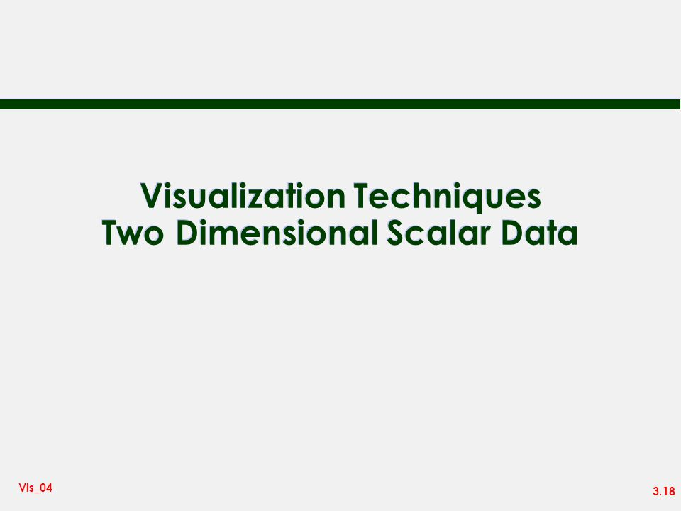 Visualization Techniques Two Dimensional Scalar Data