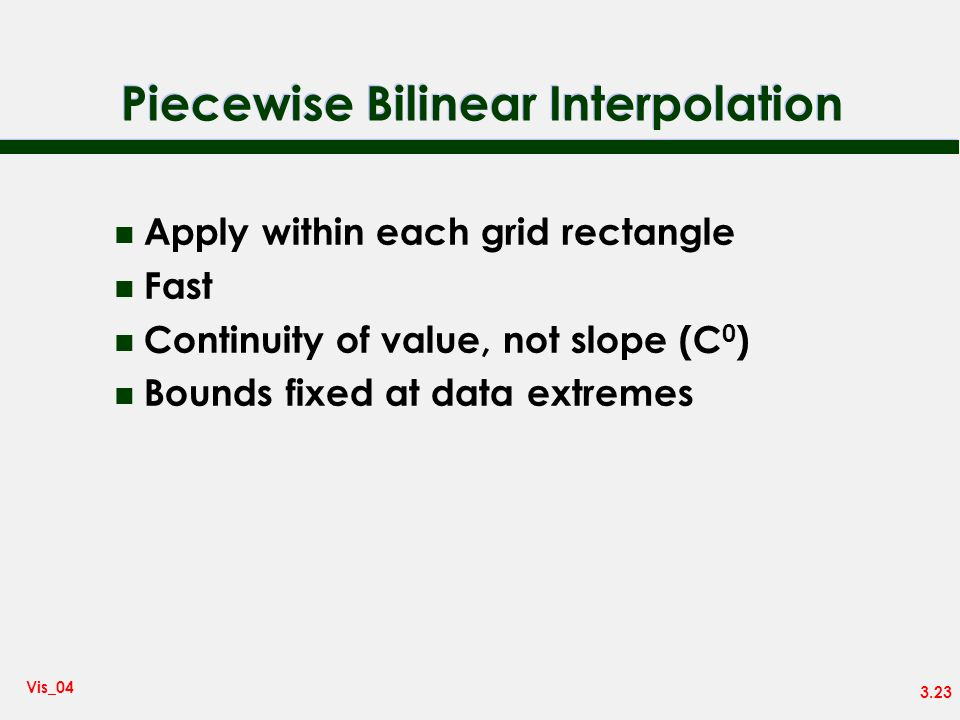 Piecewise Bilinear Interpolation