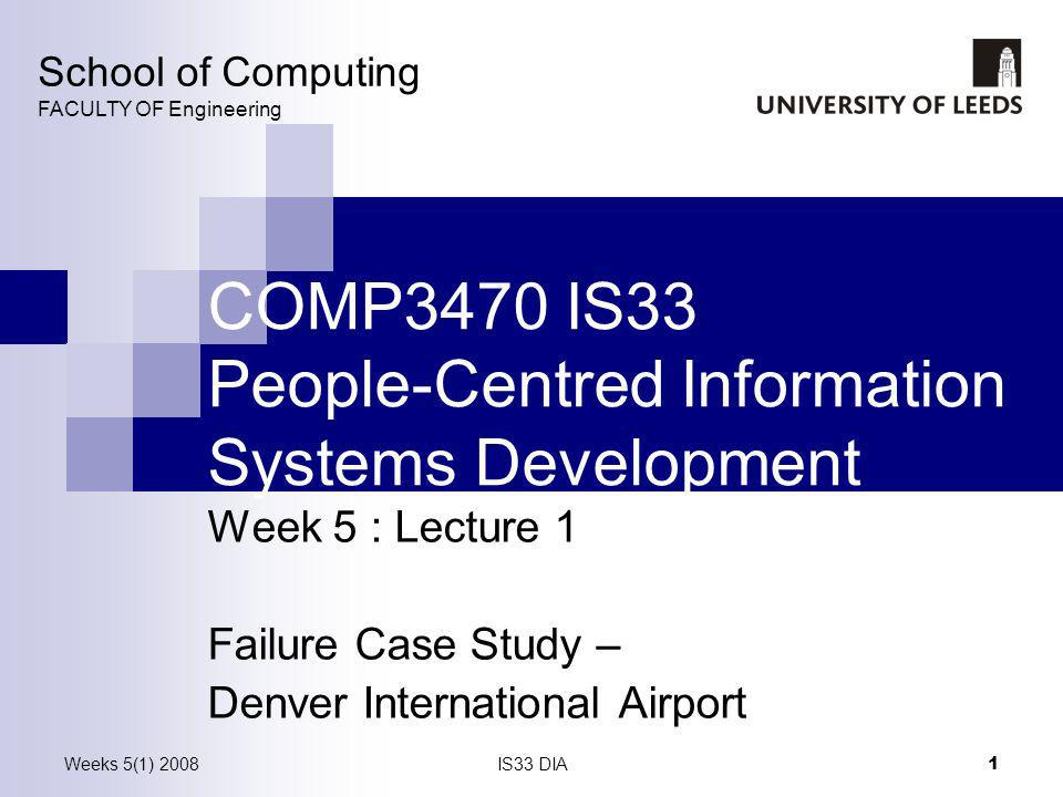 COMP3470 IS33 People-Centred Information Systems Development