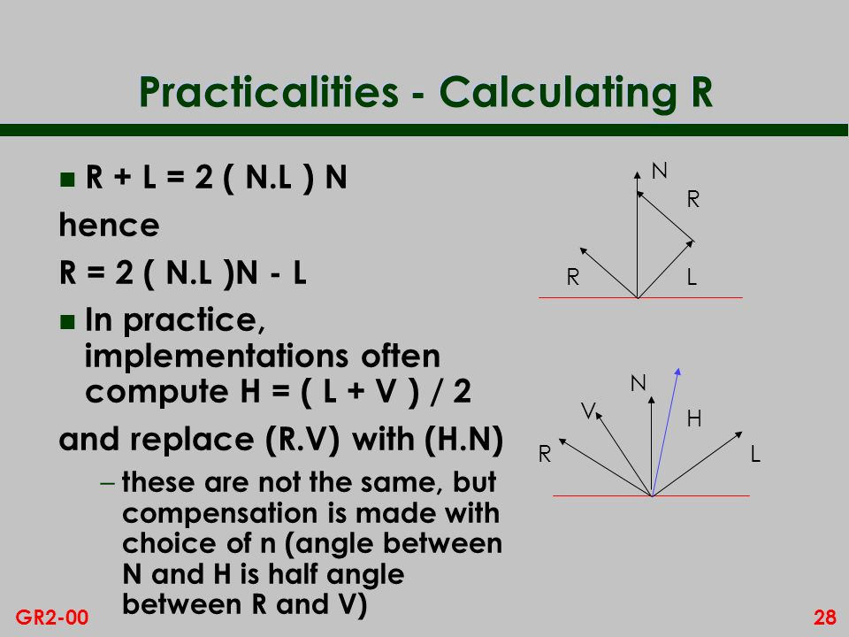 Practicalities - Calculating R