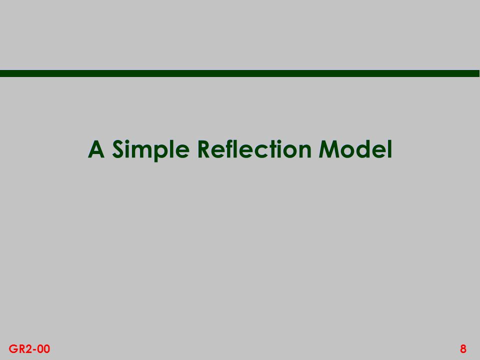 A Simple Reflection Model