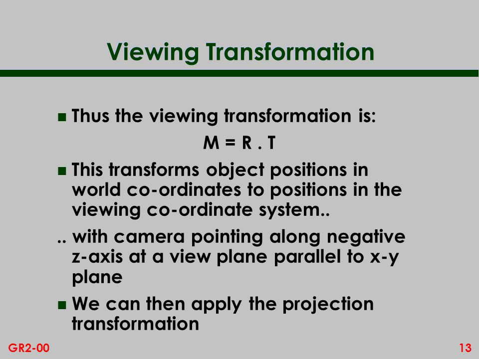 Viewing Transformation