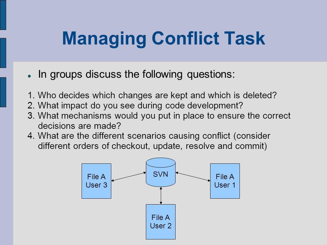 Managing Conflict Task