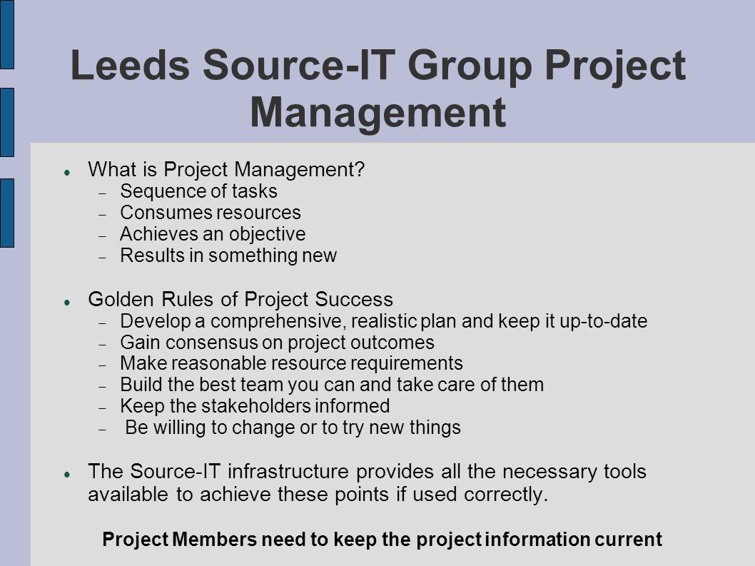Leeds Source-IT Group Project Management