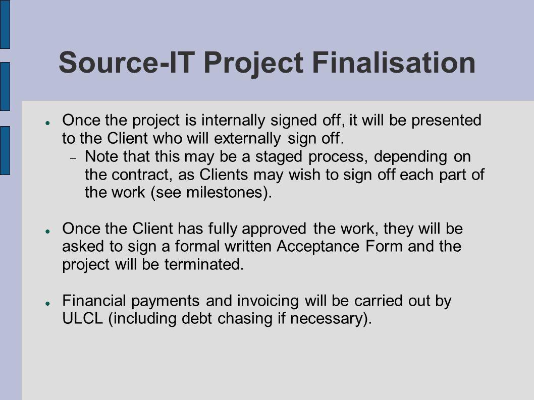 Source-IT Project Finalisation